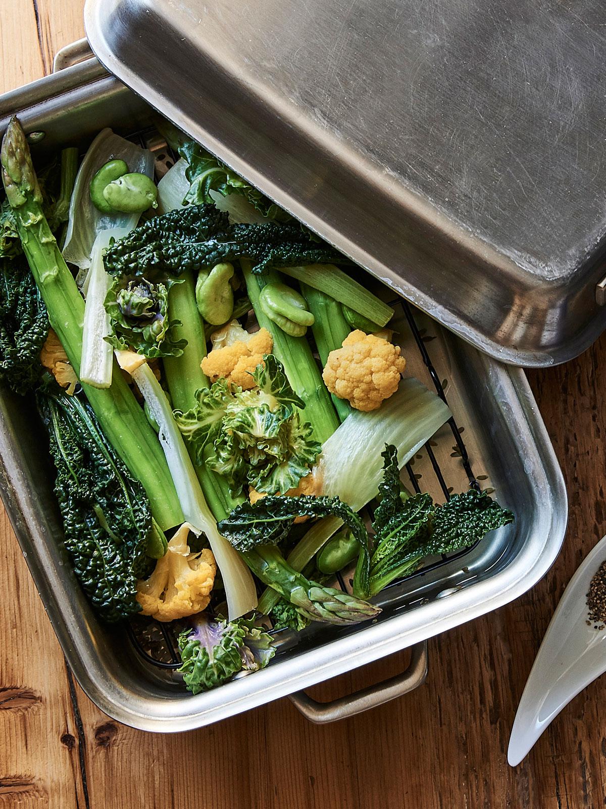 春野菜のブレゼのレシピ/ 「イレール人形町」島田哲也シェフに習う、一歩上ゆく野菜料理