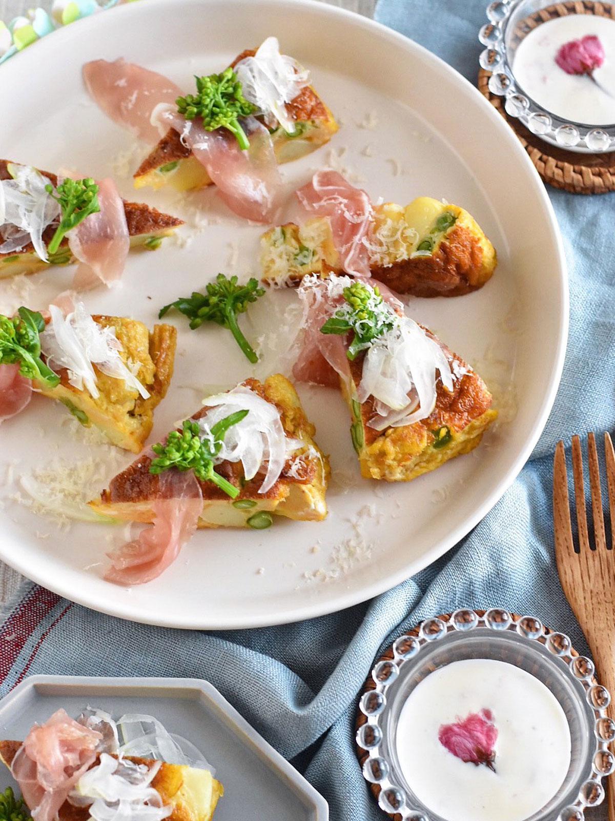 春野菜のスパニッシュオムレツ