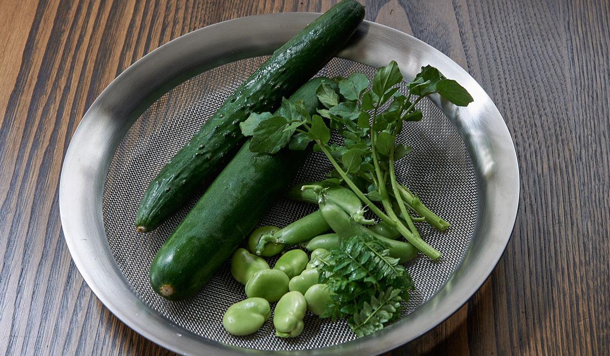 みどりのちらし寿司のレシピ/「七草」前沢リカシェフに習う、一歩上ゆく野菜料理
